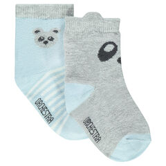 Set of 2 pairs of assorted socks with panda motif
