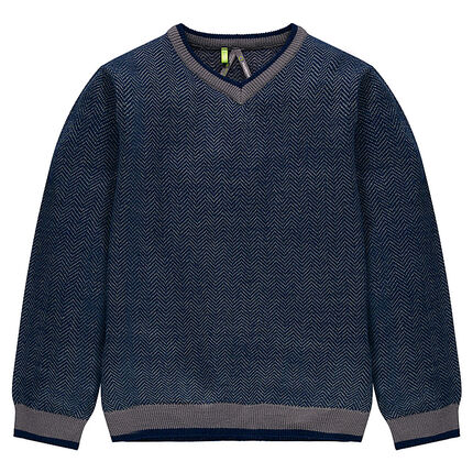 Junior - Chevron V-neck sweater