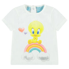 Short-sleeved tee-shirt featuring Lonney Tunes Tweety Bird print