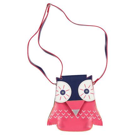 Owl-shaped shoulder bag