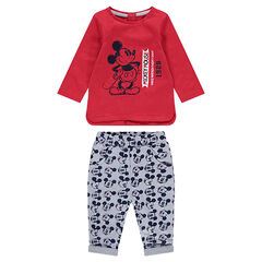 Ensemble with vintage ©Disney Mickey Mouse print tee-shirt and allover pants