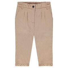 Plain-colored cotton pants