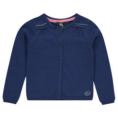 Junior - Plain-colored, slub knit jacket