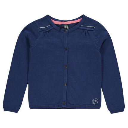 Junior - Plain-colored, slub knit jacket
