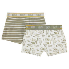 Set of 2 pairs of assorted ©Smiley cotton boxer shorts