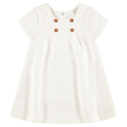 Cotton dress with allover tone-on-tone stars