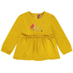 Tunic in a trendy knit fabric with embroidery and quills