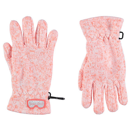 Magic heathered knit stretch gloves
