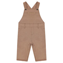Long overalls in linen and cotton