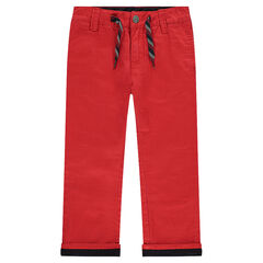 Plain red chino pants