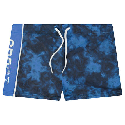 Beach shorts  with a contrasting band on the side