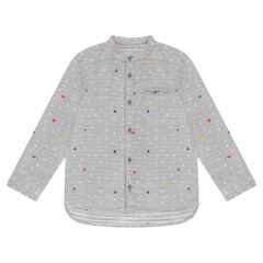 Long-sleeved shirt with letters and ©Disney Mickey Mouse motif