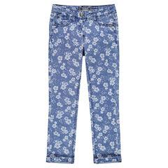 Printed slim jeans