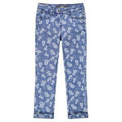 Junior - Printed slim jeans