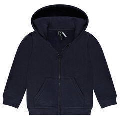 Slub fleece jacket with hood
