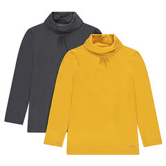 Set of 2 thin plain-colored turtleneck sweaters