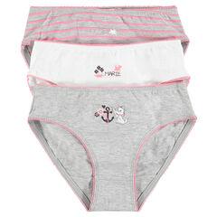 Set of 3 pairs of Disney Marie underwear