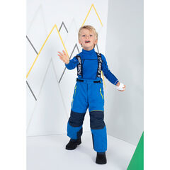Two-tone waterproof ski pants with removable suspenders