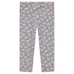 Jersey leggings with an allover print