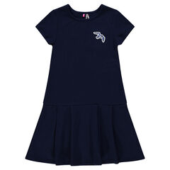 Junior - Fleece dress with bird patch
