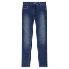Junior - Denim-effect fleece jeans
