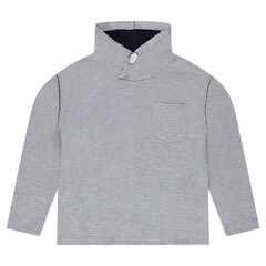 Junior - Fleece Sweatshirt with Collar and Pocket