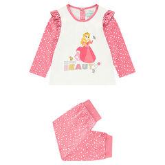 Jersey pajamas with a top featuring a ©Disney Princess Aurora print