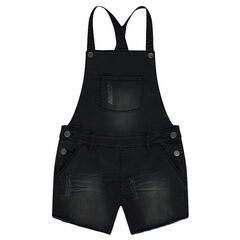 Junior - Short denim overalls