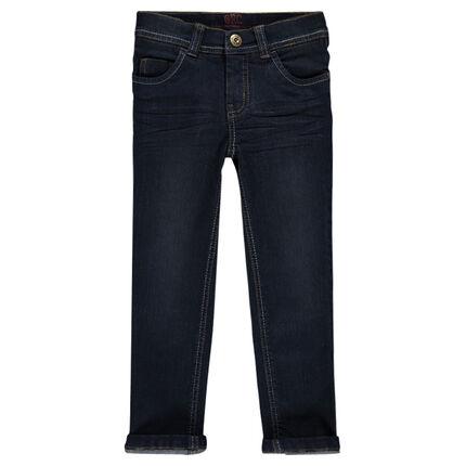 Junior - Worn-effect slim-cut jeans