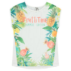 Short-sleeved tee-shirt with sublimination print