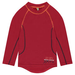 Tee-long sleeves in polyester with raglan sleeves
