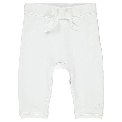 Plain-colored fleece pants for newborns