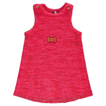 Short-sleeved sparkly knit dress