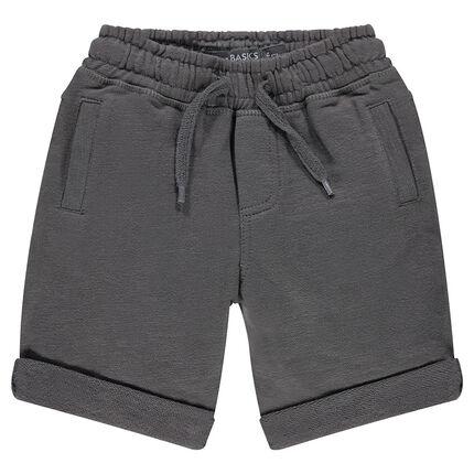 Junior - Plain-colored, light fleece bermuda shorts