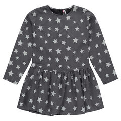 Junior - Long-sleeved dress with allover stars