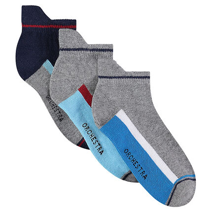 Set of 3 pairs of ankle socks