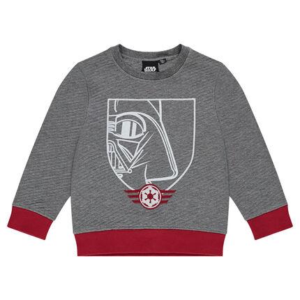 Ottoman fleece sweatshirt with print