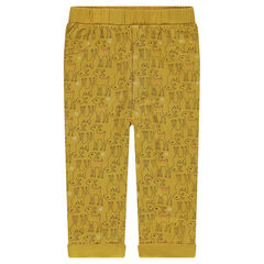 Jersey pants with an allover print of fawns