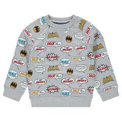 Fleece sweatshirt with an allover ©Warner Batman print