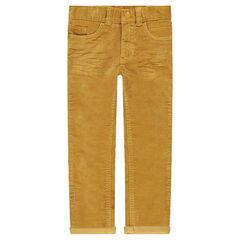 Junior - Crinkled-effect velvet pants