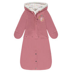 Angel's nest combi-pilot in fleece with embroidered bunny