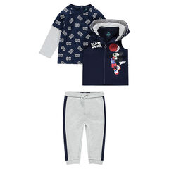 3-piece fleece sweatsuit with ©Disney Mickey Mouse print
