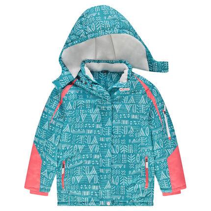 Junior - Fancy Print Ski Jacket With Microfleece Lining