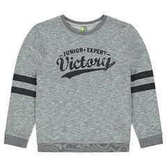 Junior - Fleece sweatshirt with crinkled-effect print in front