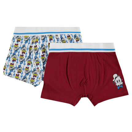 Set of 2 assorted boxers with Disney Donald Duck print