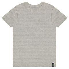 Short sleeve cotton piqué t-shirt with pocket