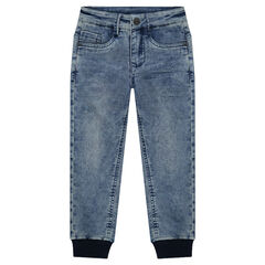 Used denim-effect pants with a sweatpant fit