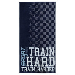Racing-style checkered bath towel
