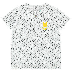 Short-sleeved jersey tee-shirt with a ©Disney Winnie the Pooh print and an allover print