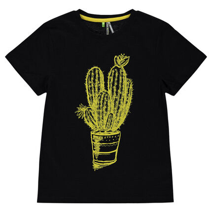 Junior - Short-sleeved tee-shirt with cactus print